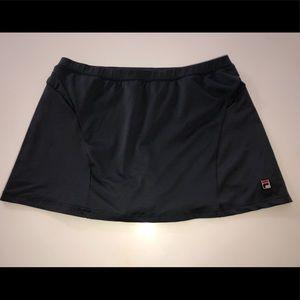Fila gray tennis skirt skort shorts xl stretch 🎾